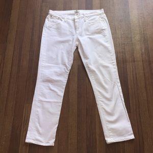 J. Crew Slim Broken-In Boyfriend White Jeans 30x30